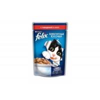 Felix, влажный корм д/кошек (говядина в желе)