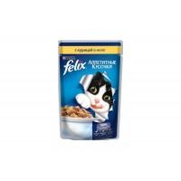 Felix, влажный корм д/кошек (курица в желе)