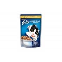 Felix, влажный корм д/кошек (с курицей и томатами в желе)