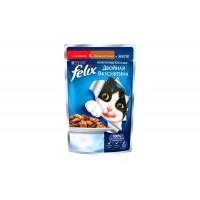 Felix, влажный корм д/кошек (говядина/птица в желе)