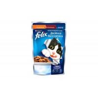 Felix, влажный корм д/кошек (индейка/печень в желе)