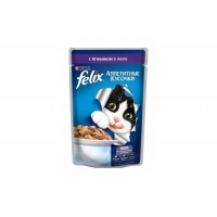 Felix, влажный корм д/кошек (ягненок в желе)