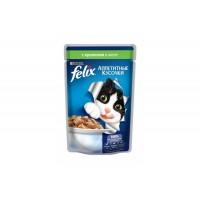 Felix, влажный корм д/кошек (кролик в желе)