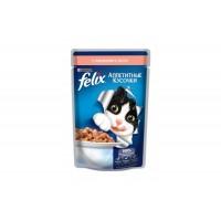 Felix, влажный корм д/кошек (лосось в желе)