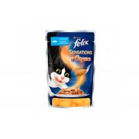 Felix, Sensations, влажный корм д/кошек (треска/томаты в соусе)