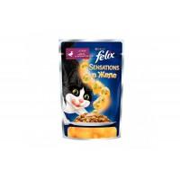 Felix, Sensations, влажный корм д/кошек (утка/шпинат в желе)
