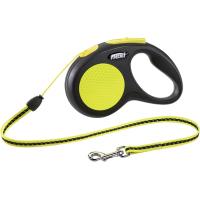 Flexi, Neon New Classic, M, рулетка д/собак трос (5 метров, до 20 кг.)
