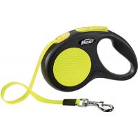Flexi, Neon New Classic, S, рулетка д/собак лента (5 метров, до 15 кг.)
