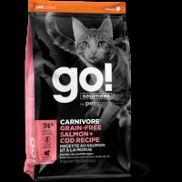GO!, Carnivore GF, корм д/кошек и котят (лосось/треска)