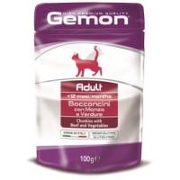 Gemon, Adult, влажный корм д/кошек (говядина/овощи)
