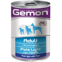 Gemon, Light, влажный корм д/собак паштет (тунец)