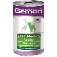 Gemon, влажный корм д/собак средних пород кусочки (ягненок)