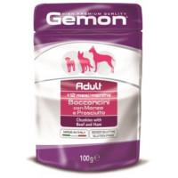 Gemon, Adult, влажный корм д/собак кусочки (говядина/ветчина)