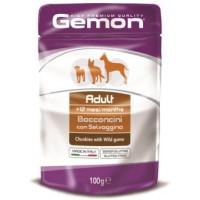 Gemon, Adult, влажный корм д/собак кусочки (дичь)