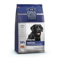 Gina, Elite, корм д/пожилых собак всех пород (лосось)