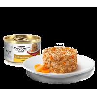 Gourmet, Gold, влажный корм д/кошек биточки (курица/морковь)