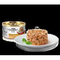 Gourmet, Gold, влажный корм д/кошек биточки (индейка/шпинат)