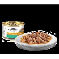 Gourmet, Gold, влажный корм д/кошек в соусе (кролик/печень)