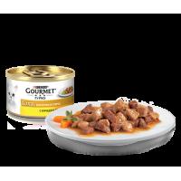Gourmet, Gold, влажный корм д/кошек в соусе (курица/печень)