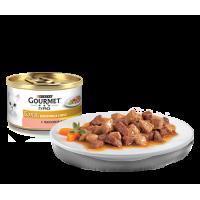 Gourmet, Gold, влажный корм д/кошек в соусе (лосось/цыпленок)