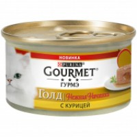 Gourmet, Gold, влажный корм д/кошек нежная начинка (курица)