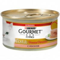 Gourmet, Gold, влажный корм д/кошек нежная начинка (лосось)
