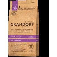 Grandorf, Adult, сухой корм д/собак крупных пород (ягненок/рис)