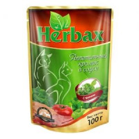 Herbax, влажный корм д/кошек (аппетитный кролик в соусе)