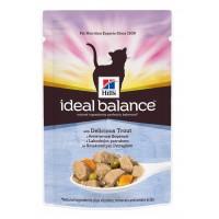 Hill's, IB, Adult, влажный корм д/кошек (форель/овощи)