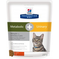 Hill's, PD, Meta+Urinary, корм д/кошек МКБ + корректировка веса