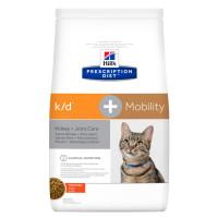 Hill's, PD, k/d + Mobility, корм д/кошек при лечении почек и суставов