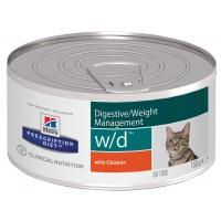 Hill's, PD, W/D, влажный корм д/кошек коррекция веса, диабет