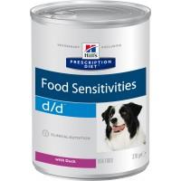 Hill's, PD, D/D, влажный корм д/собак при аллергии (утка)