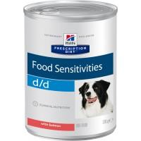 Hill's, PD, D/D, влажный корм д/собак при аллергии (лосось)
