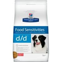 Hill's, PD, D/D, корм д/собак при аллергии (лосось/рис)