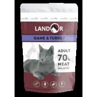 Landor, Adult, влажный корм д/кошек (куропатка/индейка)