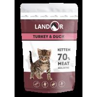Landor, Kitten, влажный корм д/котят (индейка/утка)