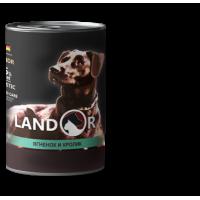 Landor, Adult, влажный корм д/пожилых собак (ягненок/кролик)