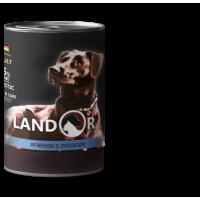 Landor, Adult, влажный корм д/собак (ягненок/лосось)