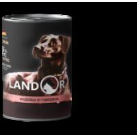 Landor, Puppy, влажный корм д/щенков (индейка/говядина)
