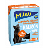 MJAU, влажный корм д/кошек (паштет/индейка)