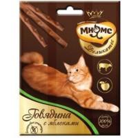 Мнямс, Деликатес, лакомые палочки д/кошек (говядина/яблоко)