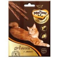 Мнямс, Деликатес, лакомые палочки д/кошек (лосось/манго)