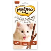 Мнямс, лакомые палочки д/кошек (говядина/печень)