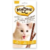 Мнямс, лакомые палочки д/кошек (цыпленок/печень)