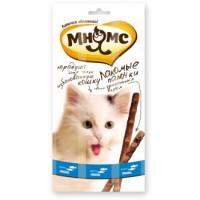 Мнямс, лакомые палочки д/кошек (форель/лосось)