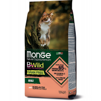 Monge, BWild Grain Free Adult, корм д/кошек беззерновой (лосось)