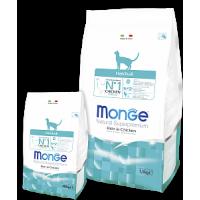 Monge, FL, Hairball, корм д/кошек (вывод шерсти)