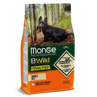Monge, Bwild Grain Free Mini беззерновой для собак мелких пород (утка)