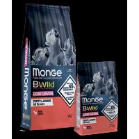 Monge, BWild Low Grain Puppy&Junior низкозерновой корм д/щенков всех пород (оленина)